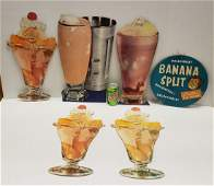 Large Ice Cream Store Soda Fountain Die Cut Signs