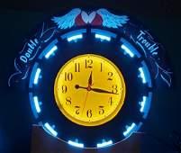 New Aztec Custom Neon Double Trouble Clock