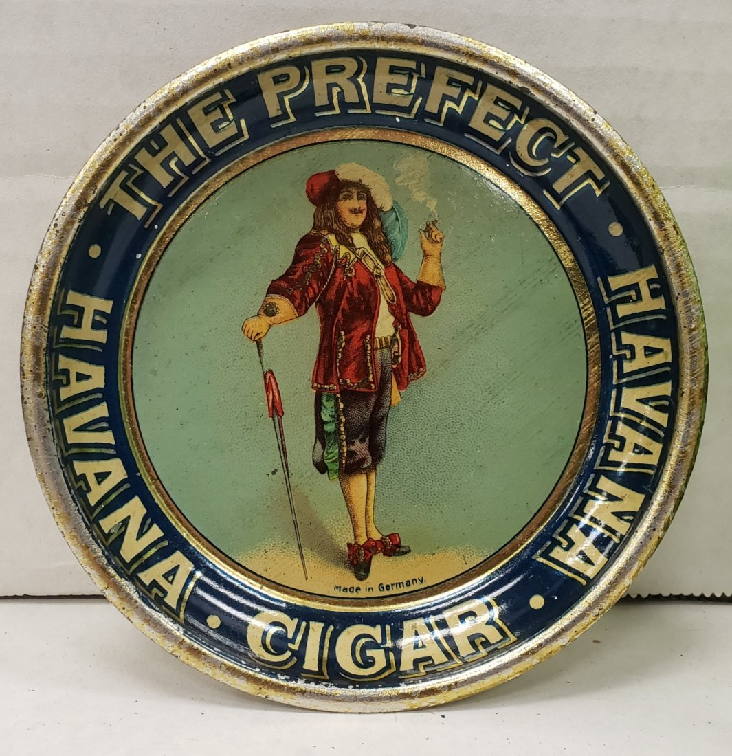 Havana Cigar Litho Tin Tip Tray