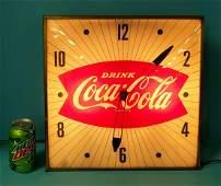 Drink Coca Cola Fishtail Pam Clock