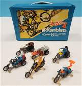 6 Hot Wheels Rumblers with Roarin' 8 Collector's Case