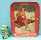 1941 Coca Cola Pin Up Girl Tray