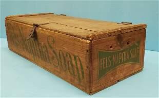 Fels Naptha Soap wood shipping box / crate