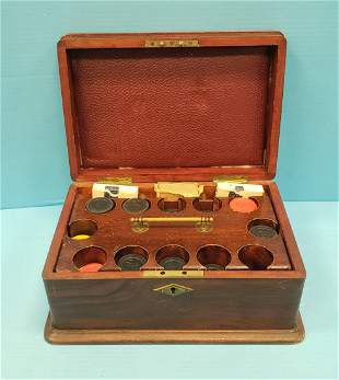 Early Gamblers Poker Chip Set w/ Original Wood Box