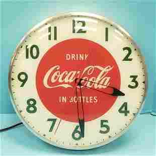 Drink Coca Cola in Bottles Light Up Clock