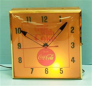 1960's things go better with Coke Light up Clock