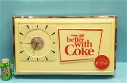 Scarce 1960's things go better with Coke Light Up Clock