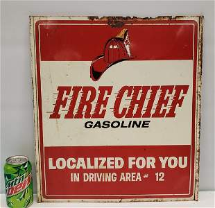 Fire Chief Localized for You Double Sided Tin Sign