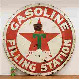Early Teens Texaco Filling Station Porcelain Sign