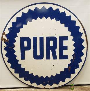 "72"" Pure Double Sided Porcelain Sign"