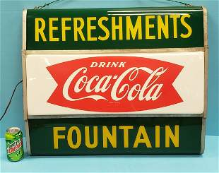 Drink Coca Cola Refreshments Fountain Light Up Sign