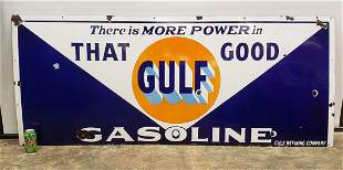 That Good Gulf Gasoline Porcelain Sign