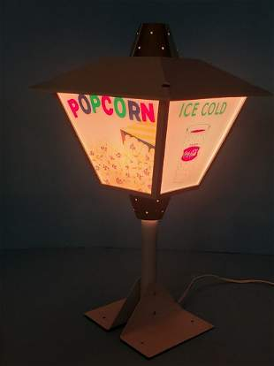 Coca Cola Movie Theater Revolving Lantern Light Up Sign