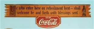 Coca Cola Kay Displays wood sign