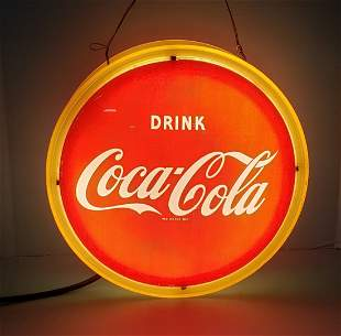 Drink Coca Cola Double Sided Hanging Halo Light
