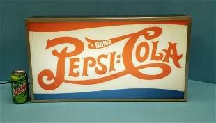 Pepsi Cola Counter Display Light Up Glass Sign