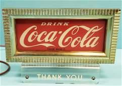 Coca Cola Light Up Counter Display Sign