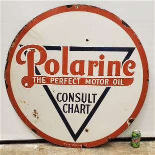 Polarine The Perfect Motor Oil Porcelain Sign