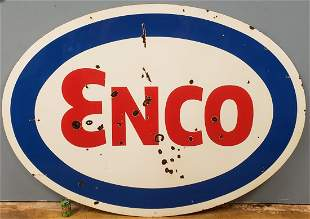 ENCO Double sided porcelain sign