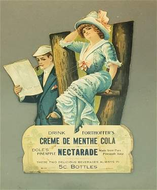 Creme De Menthe Cola or Nectarade Cardboard Sign