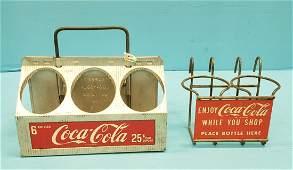 Coca Cola Shopping Cart bottle holder & 6 Pack Carrier