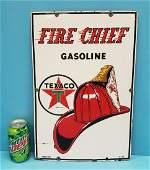 Porcelain Texaco Fire Chief Gas Pump Plate