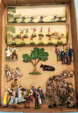 Lot of assorted soldiers and civilians