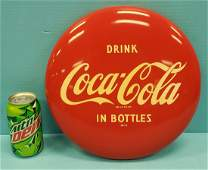 """12"""" Drink Coca Cola in Bottles button sign"""