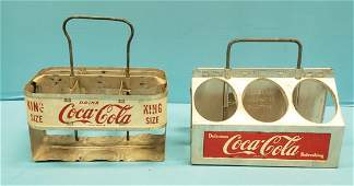 2 Coca Cola Aluminum 6 pack Carriers Enjoy King Size