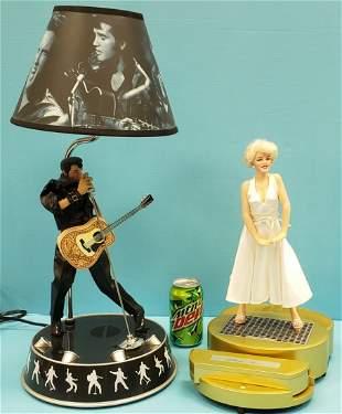 Elvis Presley Lamp & Marilyn Monroe Telephone