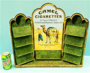 Camel Cigarettes Tin Store Counter Display