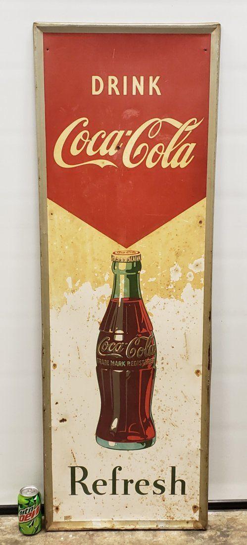 Drink Coca Cola Refresh Vertical Tin Sign