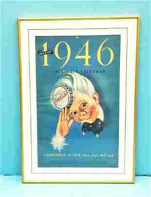 1946 Coca Cola Calendar with Sprite Boy