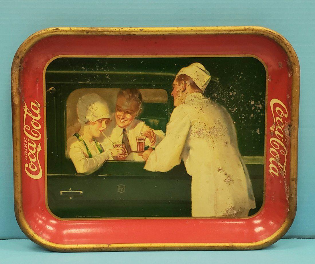 1927 Coca Cola Serving Tray with Car Hop