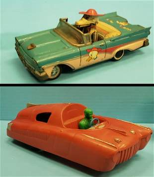 Merry Duck & Marx friction toy cars