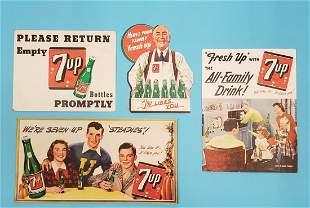 1948-50 Lot of 7up cardboard advertising