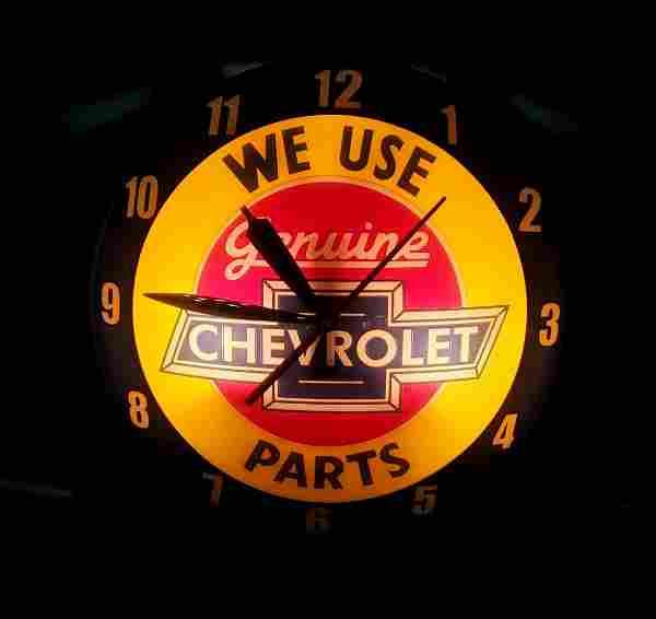 We Use Genuine Chevrolet Parts Double Bubble Clock