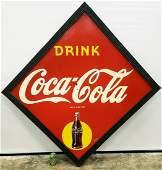 1946 Large Drink Coca Cola Diamond Masonite Sign