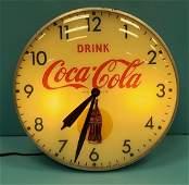 Drink Coca Cola Pam Clock Face Light up Clock