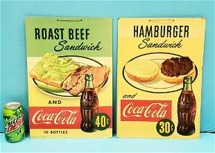 Two 1950's Coca Cola Diner Signs