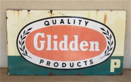 Porcelain Glidden Quality Products Paint Sign