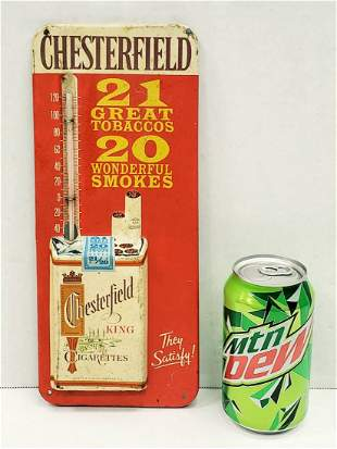 Chesterfield Cigarettes Thermometer