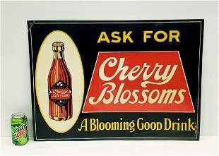 Cherry Blossoms Embossed Tin Sign