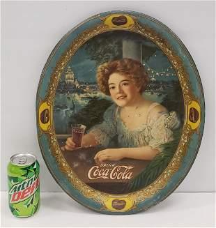 1909 Original Coca Cola Tray