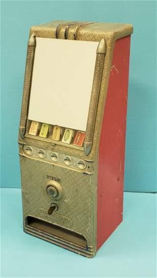 Silver Queen Chewing Gum Coin Op Vending Machine