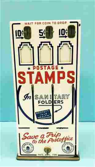 Porcelain Postage Stamp Coin Operated Machine