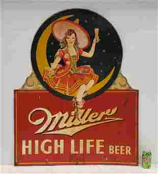 RARE Miller High Life Beer with Pin-up Girl