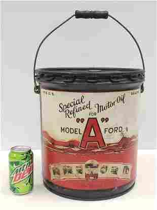 RARE 5 Gallon Model A Ford Motor Oil Can