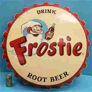 Frostie Root Beer Bottle Cap Sign