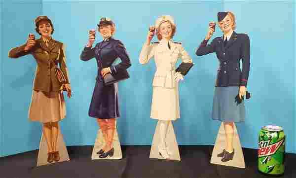 1943 Set of 4 Coca Cola Military Service Girls